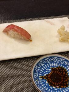 東京マリオットホテルG ~和 Selection~ディナーコース大トロにぎり