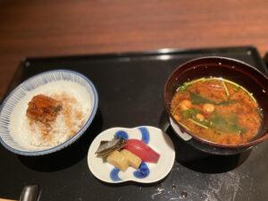 コートヤード・マリオット銀座東武ホテル銀座むらさきコースひつまぶし味噌汁