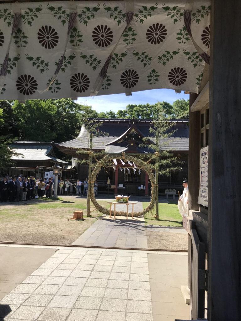 夏越大祓式・茅の輪くぐり神事