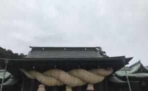 宮地嶽神社大しめ縄